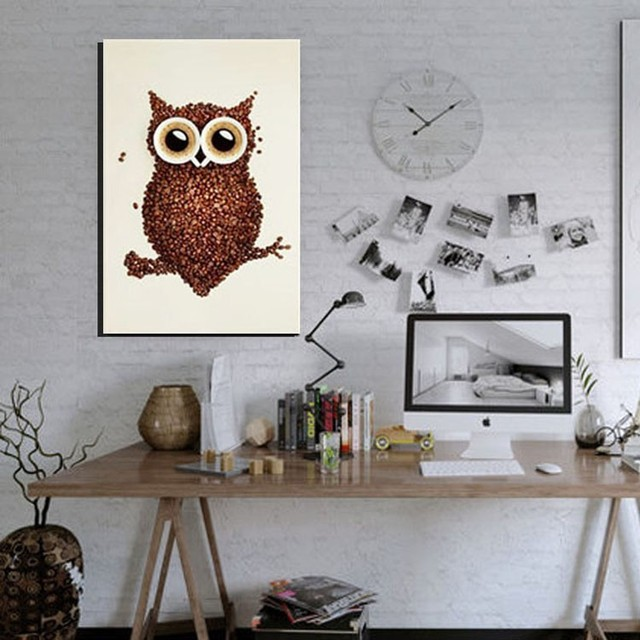 Aliexpress.com : Buy Grown Coffee Owl Decorative Picture