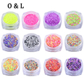 1pcs Colorful Sequins Nail Art Glitter Powder Decorations UV Gel Polish DIY Nail Accessories