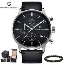 Watches Male PAGANI Luxury Brand Men's Sports Quartz Military Unique Function Wrist Watch Men Leather Clock relogio masculino