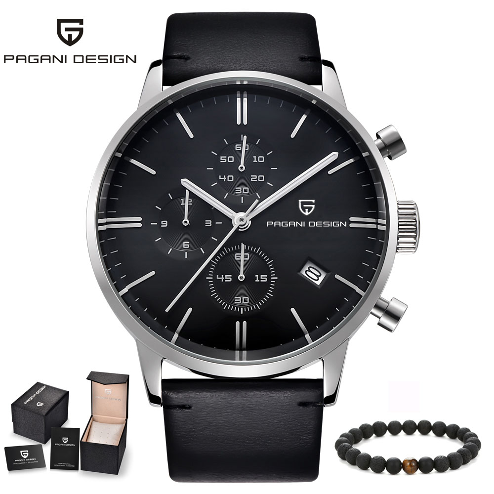 Montres homme PAGANI marque de luxe hommes sport Quartz militaire fonction Unique montre-bracelet hommes en cuir horloge relogio masculino
