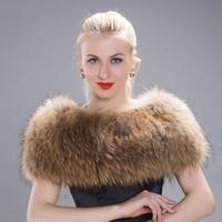 JKP 2018 Women winter raccoon fur shawl warm fur shawl pashmian natural raccoon fur elegant ladies warm scarf new discount TJ 01
