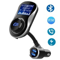 Bluetooth FM usb adapter for Car, HIPPIH Wireless FM Transmitter Receiver, Dual USB Car Charger, Car Radio Adapter free shipping