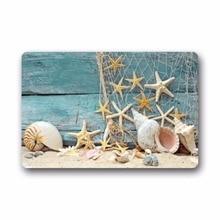 Fantastic Doormat Sea Beach Starfish on Fishing Net Door Mat Rug Indoor/Outdoor/Front Door/Bathroom Mats£¬Bedroom Carp