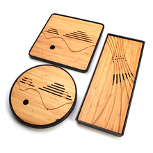 Chinese Traditional Teapot Accessorie Classical Kung Fu Tea Set Simple Tea Tray Drainage Water Storage Solid Wood Teaware Tools