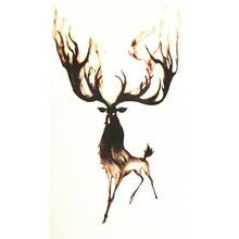 10x6cm Temporary Small Cute Fashion Tattoo Running Deer
