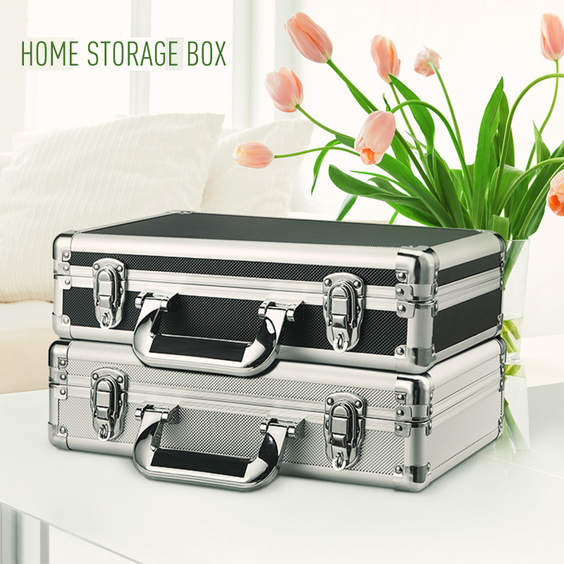 Small Aluminium Flight Case Tool Latch Box Clear Top Storage Display Demo Medals With Foam Insert Camera Video Case