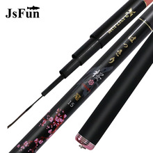 On sale JSFUN 3.6-7.2M Stream Rod Telescopic Fishing Rod Carbon Fiber Fishing Pole Ultra-Light Carp Fishing Rod Fishing Tackle YG03