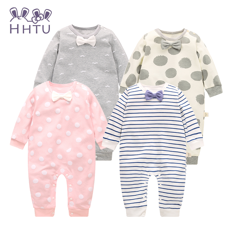 HHTU Baby Rompers Long Sleeve Baby Girls Clothing Jumpsuits Children Autumn  Newborn Baby Clothes Cotton hhtu brand baby rompers boys girls clothing quilted long sleeve jumpsuits newborn clothes boneless sewing children cotton winter