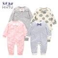 HHTU Bebê Macacão de Manga Longa Bebê Meninas Macacões Roupas Crianças Outono Bebê Recém-nascido Roupas de Algodão