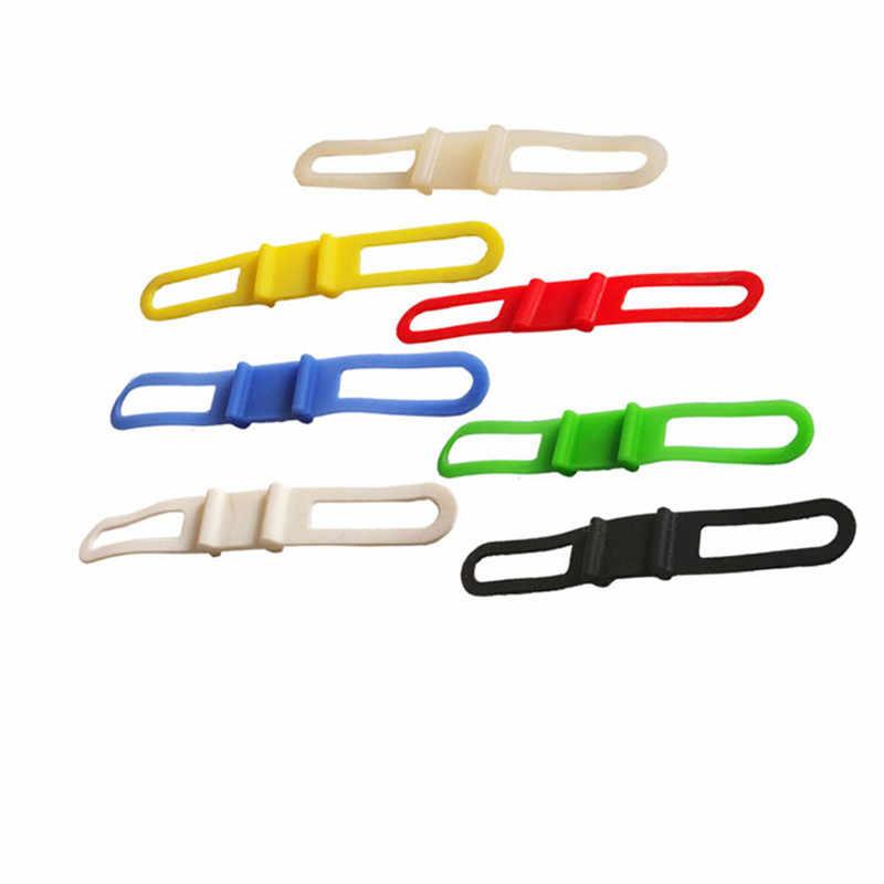 10 шт./лот, велосипедный фонарик, крепление для телефона, эластичный галстук, веревка, лента, факел, повязки, велосипедные силиконовые гелевые ремни для руля