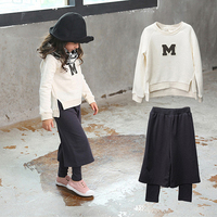 Girls Autumn Outfit Korean Style Fashion Kids 2 Pcs Clothing Set Teenages Clothes For Children Age
