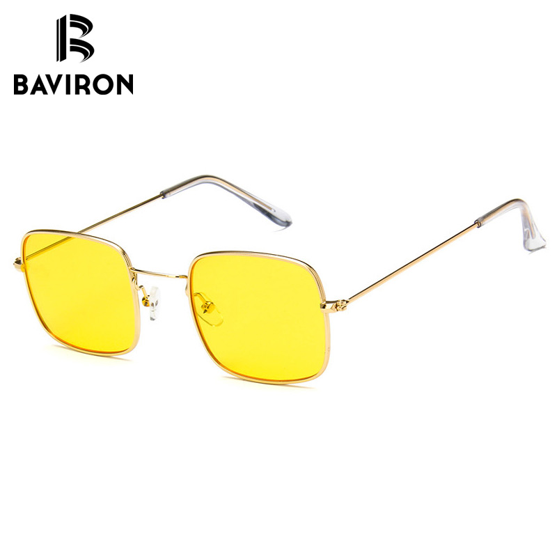 9b59b883e1 BAVIRON Vintage Square Oversized Sunglasses Women Fashion Metal Frame Sun  Glasses Brand Designer Eyewear for Women Men Oculos-in Sunglasses from  Apparel ...