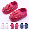 Baby Boys Girls First Walkers Toddler Infant Newborn Shoes Hot-selling Slip-On Brand PU Leather baby moccasins New 2015