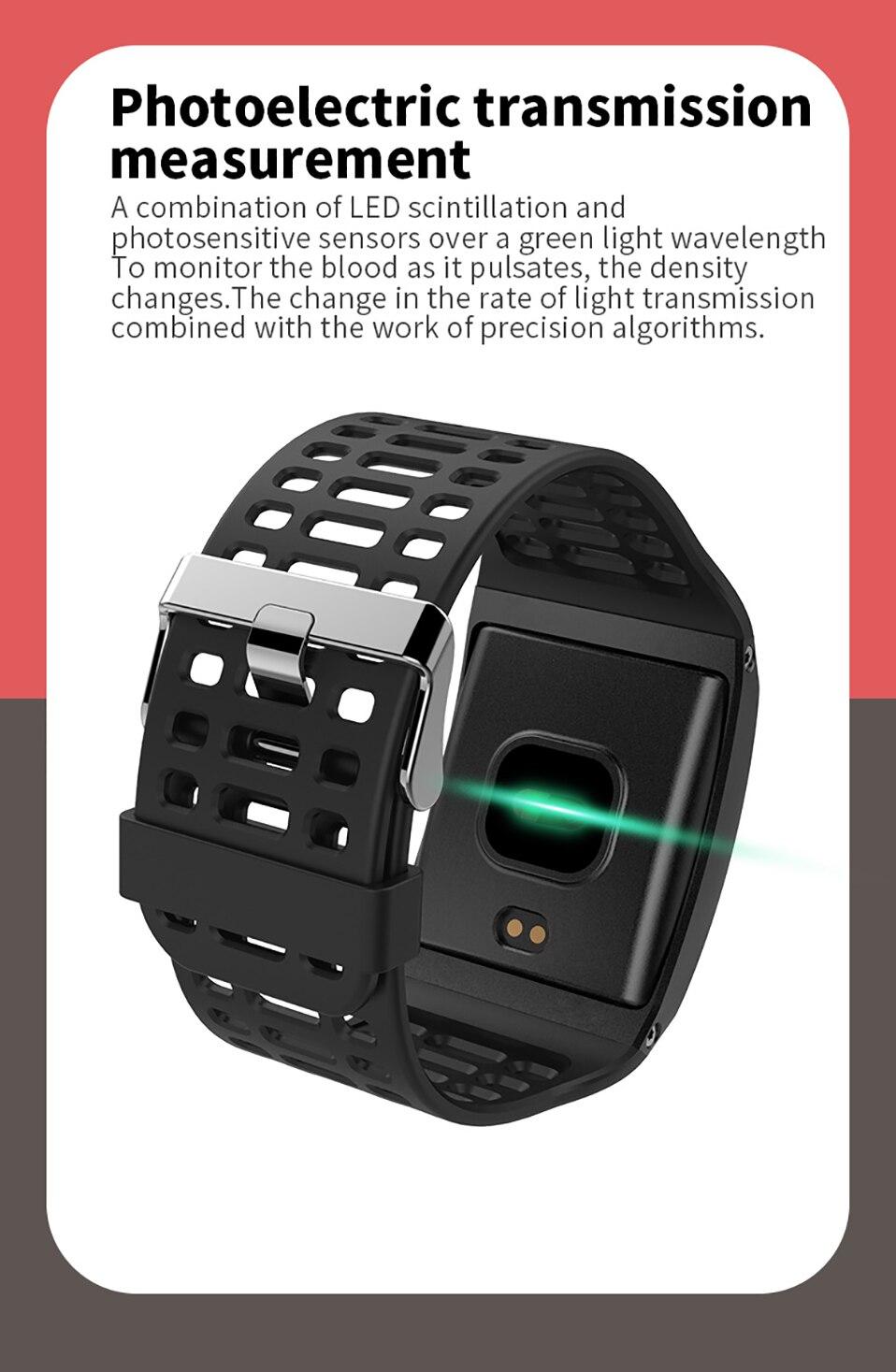 ALANGDUO Z01 Smart Watch Color Screen Smart Wristwatch Big Dials Heart Rate Monitor Micro sensor Waterproof Smart Watch Bracelet (8)