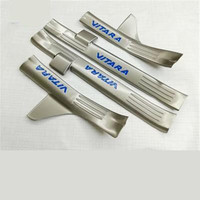 4PCS Set Stainless Steel Door Sill For Suzuki Vitara 2015 2016 Scuff Plate Door Pedal Car