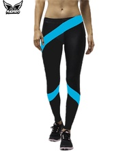 MADHERO 2016 Womens's Yoga Tights Pants Ankle Legging Mixed Colored Design Nice Pants For Yoga Running Workout Fitness Trousers