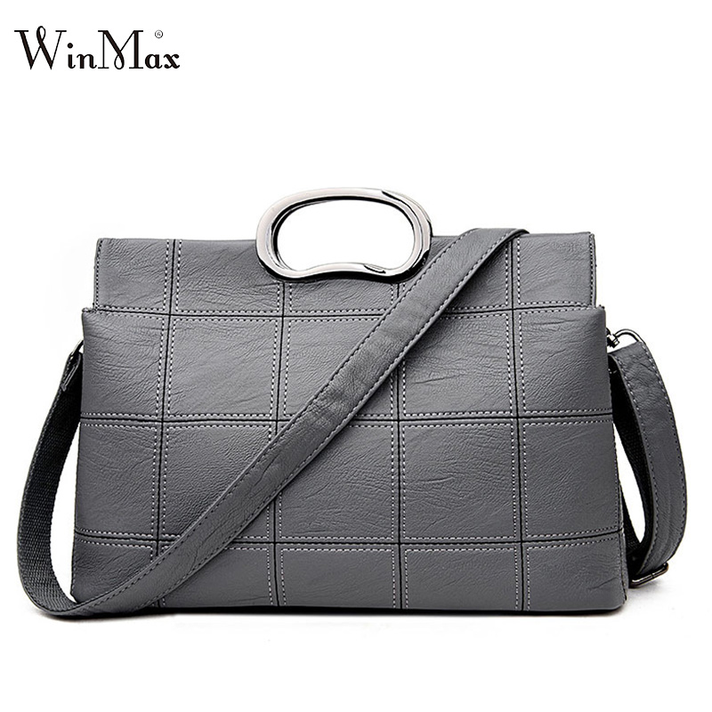 Winmax 2017 Fashion Women Bag Luxury Brand PU Leather Women Messenger Bags Shell Ladies handle New Woman Leather Handbags Sacs