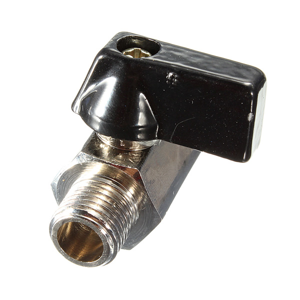 1/4 Inch 2 Ways Mini Brass Ball Valve Chrome Controller Size 4cmx2cm Male To Female Air Compressor Hose