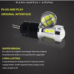 Image 3 - Gtinthebox שגיאת משלוח led drl אור Hp24w 3030SMD 12V g4 led בשעות היום ריצת אורות הנורה מנורת עבור סיטרואן c5 ו 3008