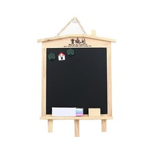 Wooden Black Board Message Blackboards Pizarra Magnetica Hanging Chalkboards with Eraser and Magnetic Decoration