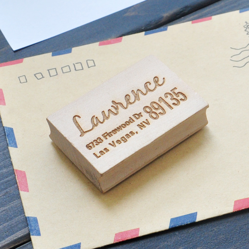 Wood Stamp Custom Address Stamp Custom Wood Stamp for business, wedding, branding, event parasitic wood