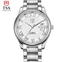 Luxury Tss Watch Men Sapphire Glass Date Stainless Steel Mens Sport Silver Wristwatches automatic Mechanical Watch Reloj Hombre