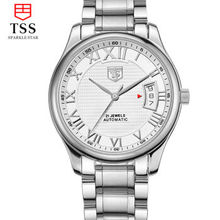 Luxury Tss Watch Men Sapphire Glass Date Stainless Steel Mens Sport Silver Wristwatches automated Mechanical Watch Reloj Hombre