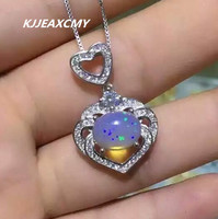 KJJEAXCMY boutique jewelry,Full of natural Opal Pendant in sterling silver jewelry wholesale S925 female models