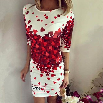 2019 New Summer Dresses Fashion Women Clothing Robe Sexy Cartoon Bodycon Miki Print O-Neck Mini Casual Sheath Dresses Vestidos 1