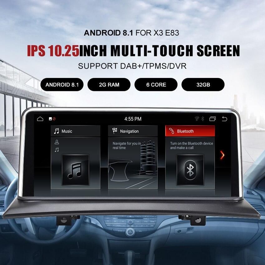 Lecteur multimédia de voiture KANOR ID6 IPS Android 8.1 navigation gps pour BMW X3 E83 2004-2009 voiture d'origine sans écran 2 GB + 32 GB WIF - 2