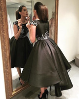 Robes De Soiree vestido de noiva longo Arabic Elegant Evening prom gown 2018 Short Front Long Back Mother of the Bride Dresses