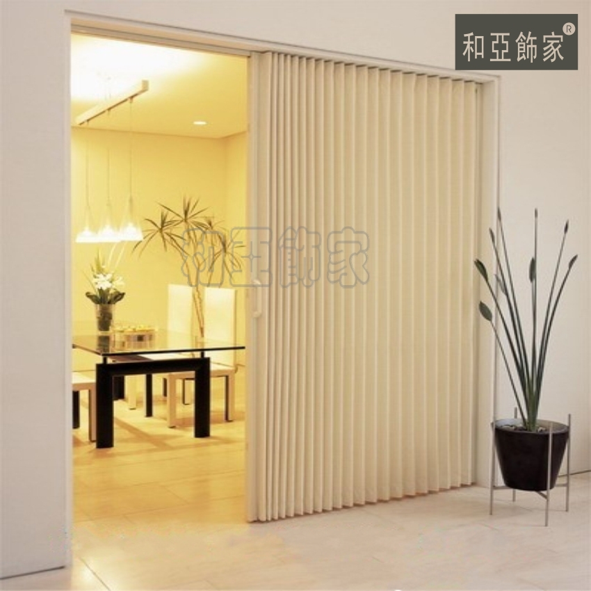 Japan Pvc According Door Foldable Sliding Door Room