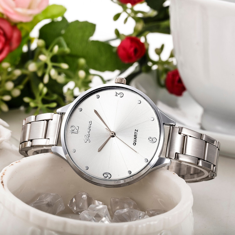 Luxury Geneva Brand fashion gold Silver watch women ladies men Crystal Stainless Steel dress quartz wrist watch Relogio Feminino hot luxury brand geneva fashion men women ladies watches gold stailess steel numerals analog quartz wrist watch for men women