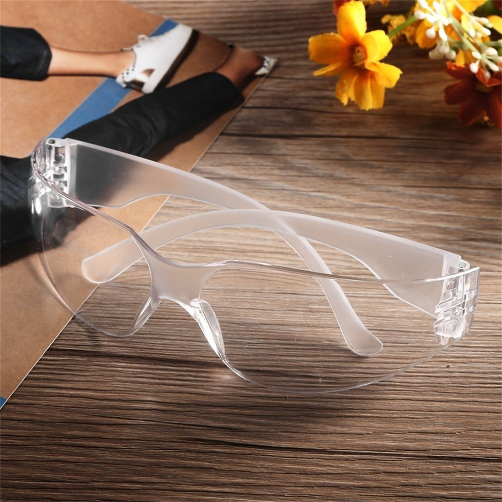 Safety Potective Black Goggles Glasses For Anti-UV Sunglasses Anti-Fog Shock Proof Working Eyes Protection Glasses
