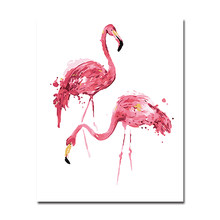 DIY Pink Flamingo Painting By Numbers Hand Paint Watercolor Animal Oil Pictures Home Decor Kits Coloring Canvas Wall Art Frame(China)
