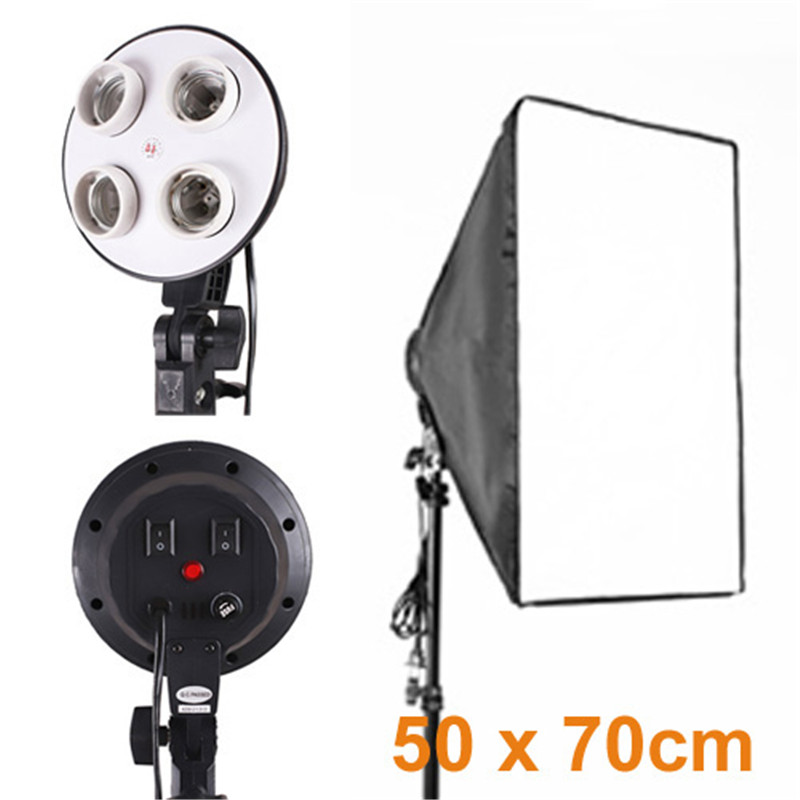 Tycipy 50x70cm Softbox E27 Lamp Holder Socket Soft Cloth For Photography Studio Lighting Photographic Equipment For Canon Nikon