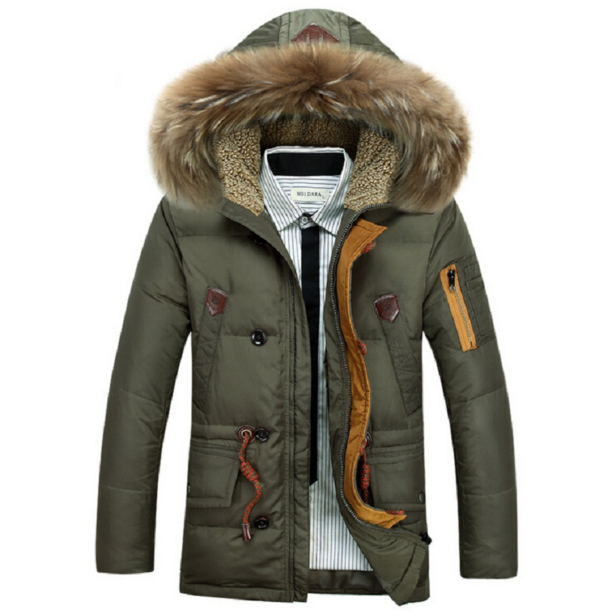 Brand New Down Jacket Thick Warm Duck Down Winter Jacket Men ...