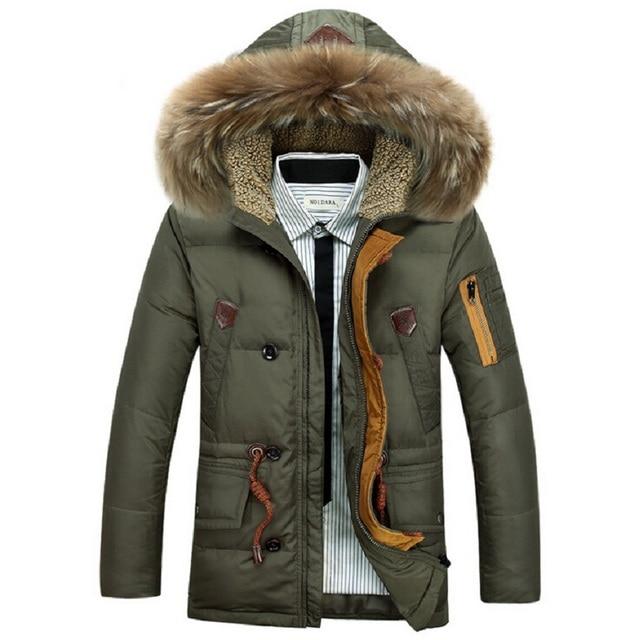 Brand New Down Jacket Thick Warm Duck Down Winter Jacket Men ...