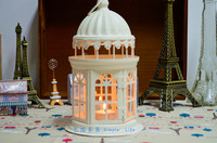 European Style Cut Out Metal Candle Holder With Glass Window 20pcs Free Shipping
