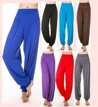 цена New yoga pants pants pants pants cuff dance sportswear Female Yoga Tai Chi Latin dance онлайн в 2017 году