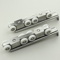 8pcs Wheel Stainless Steel Track Pulley Solid Wood Door Wheel Hanging Wheel Slide Mute Sliding Door