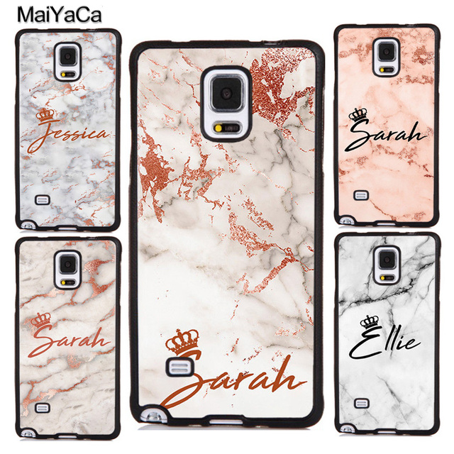 best authentic dd3fb 07721 US $4.55 5% OFF|MaiYaCa PERSONALISED MARBLE QUEEN CROWN INITIALS NAME Phone  Cases For Samsung Galaxy S5 S6 S7 edge S8 S9 plus Note 4 5 8 Cover-in ...