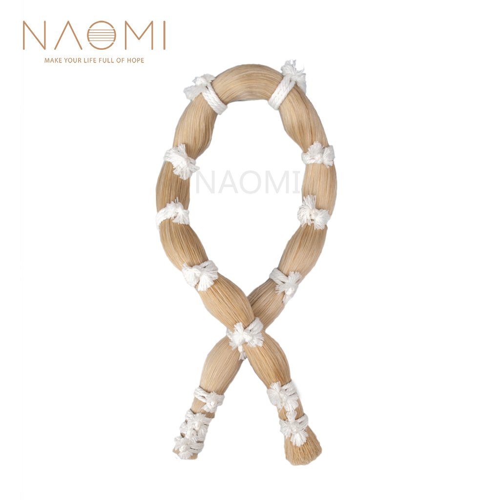NAOMI Violin Bow Hair 250g 80cm Long Violin Bow Hair Horsehair Fiddle Bow Hair Natural White