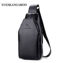 YUES KANGAROO Brand Chest Bag Single Shoulder Bag Leather Men Crossbody Bags Rucksack Waist Pack fashion leisure Messenger bag