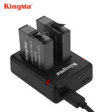Original Kingma 1150mah 2pcs battery Rechargeable lithium batteries+Dual Charger For Insta360 ONE X Camera Accessory