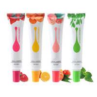 Lubricante para sexo con base de agua a base de 50ml de fruta melocotón/té verde/fresa/naranja Gel comestible para sexo masaje Vaginal Anal para mujeres