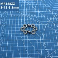 Free Shipping high quality MR128ZZ Bearing  (10PCS) 8*12*3.5 mm Miniature MR128-2Z Ball Bearings MR128 ZZ L-1280ZZ MR128z