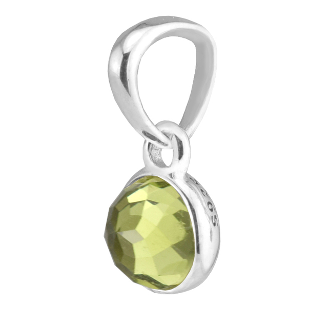 b890e393b Fits for Pandora Bracelets August Droplet Charms with Peridot 925 Sterling  Silver Beads Jewelry Free Shipping