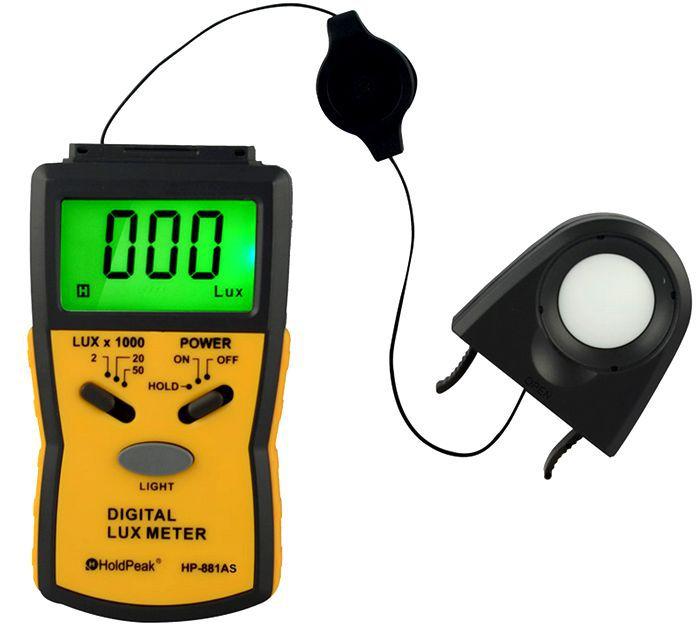 HP-881AS цифровой измеритель освещенности, измеритель яркости, измеритель яркости 0 ~ 50000Lux