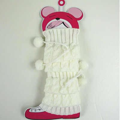 Kış sıcak Örme kız Bacak Isıtıcıları Çocuk Kız Diz boyu Tığ Önyükleme Çocuk Önyükleme bebek 3-10 yıl tayt
